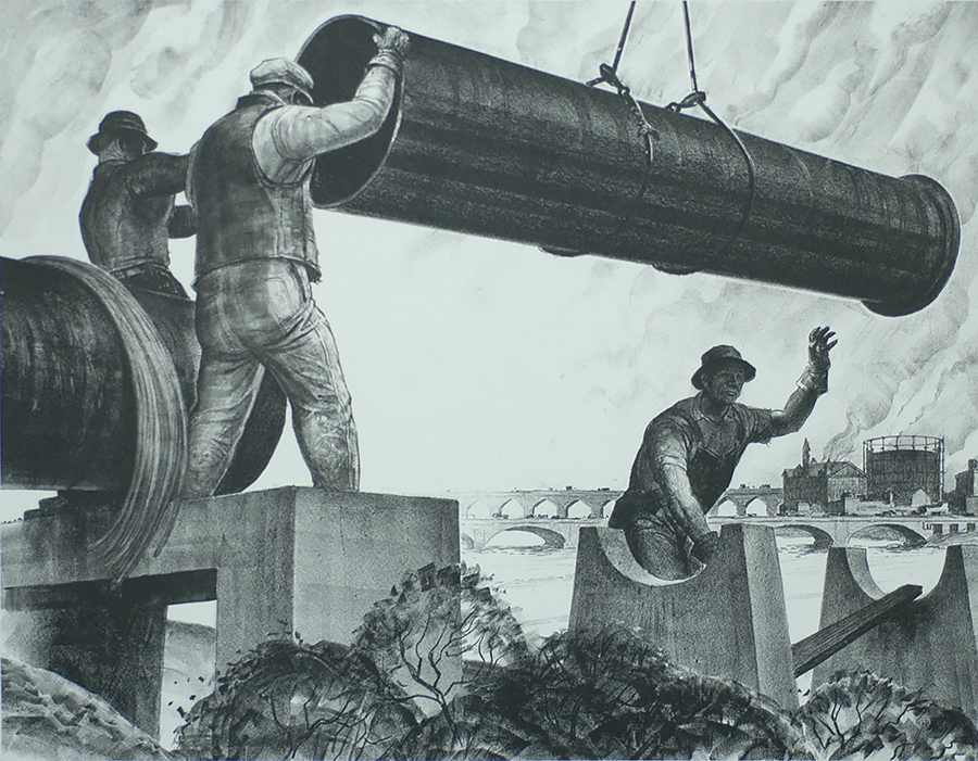 The Aqueduct - JAMES ALLEN - lithograph