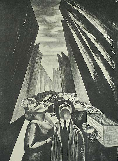 Apprehension - IRVING AMEN - lithograph