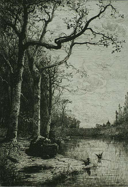 Marais de la Burbanche (Grande Planche); Marsh of the Burbanche (Large Plate) - ADOLPHE APPIAN - etching