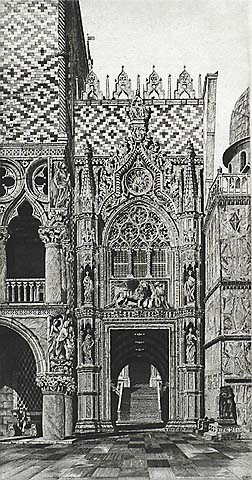 The Enchanted Doorway, Venezia - JOHN TAYLOR ARMS - etching