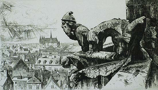 Sentinels - JOHN TAYLOR ARMS - etching