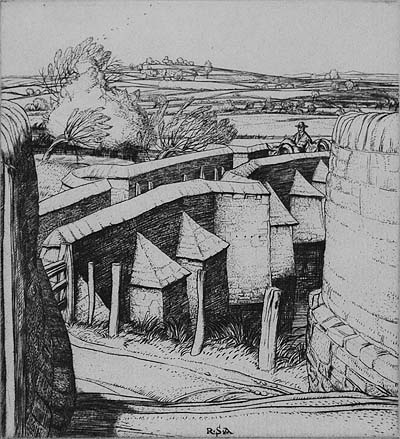 The Pack Bridge, Aylestone, Leicestershire - ROBERT S. AUSTIN - engraving
