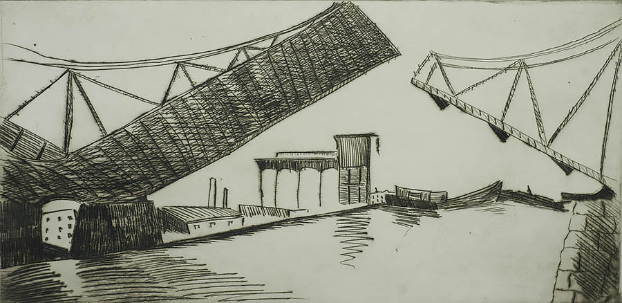 Drawbridge - MILTON AVERY - drypoint