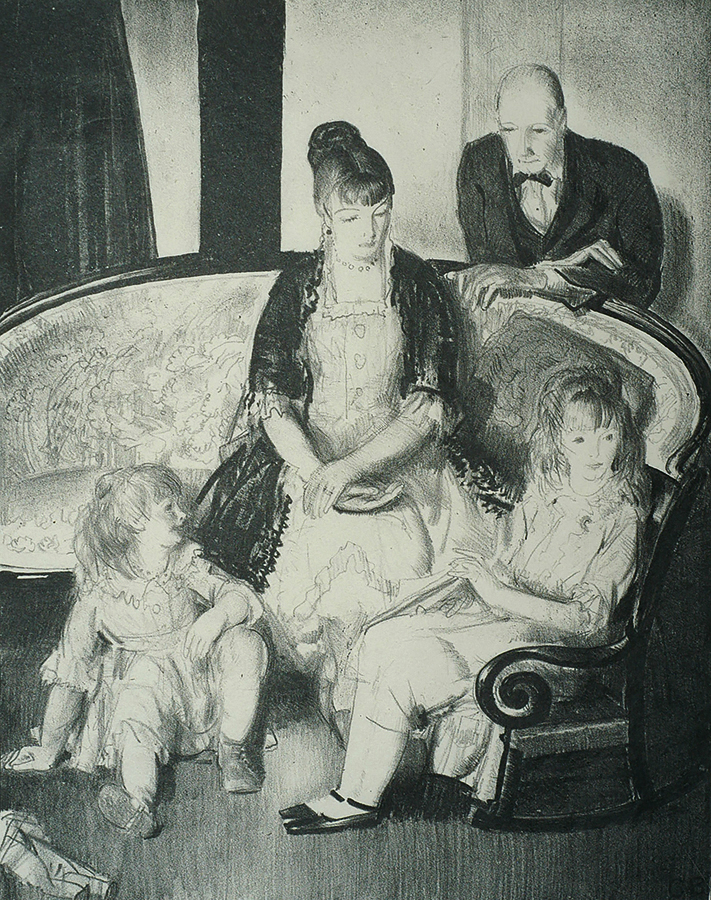 Family - GEORGE BELLOWS - lithograph