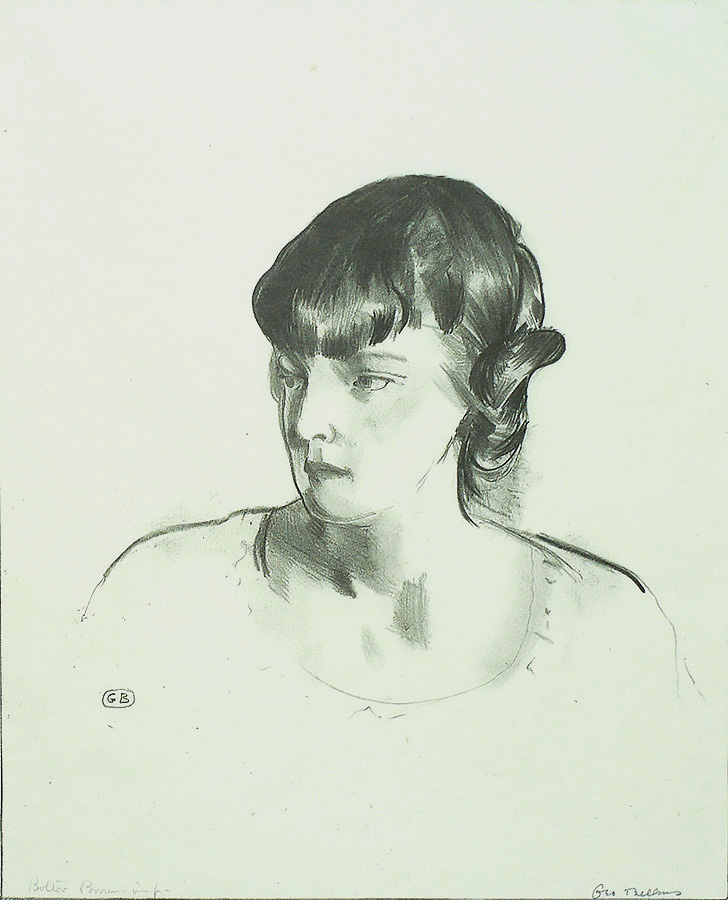 Miss Tate - GEORGE BELLOWS - lithograph