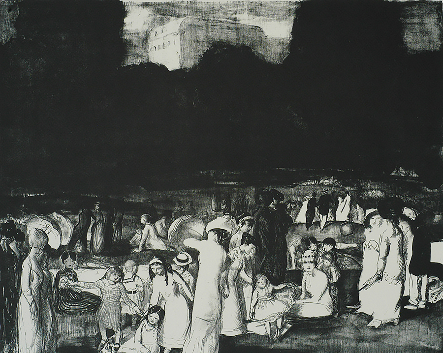 In the Park, Light - GEORGE BELLOWS - lithograph