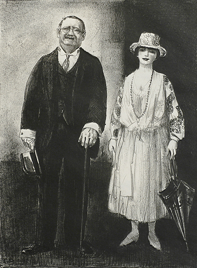 Married Couple - GEORGE BELLOWS - lithograph