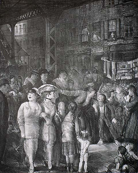 The Street - GEORGE BELLOWS - lithograph