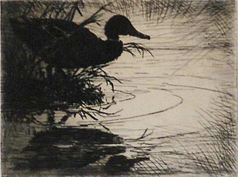 Silhouette - FRANK BENSON - etching