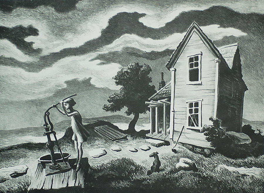 The Farmer's Daughter - THOMAS HART BENTON - lithograph