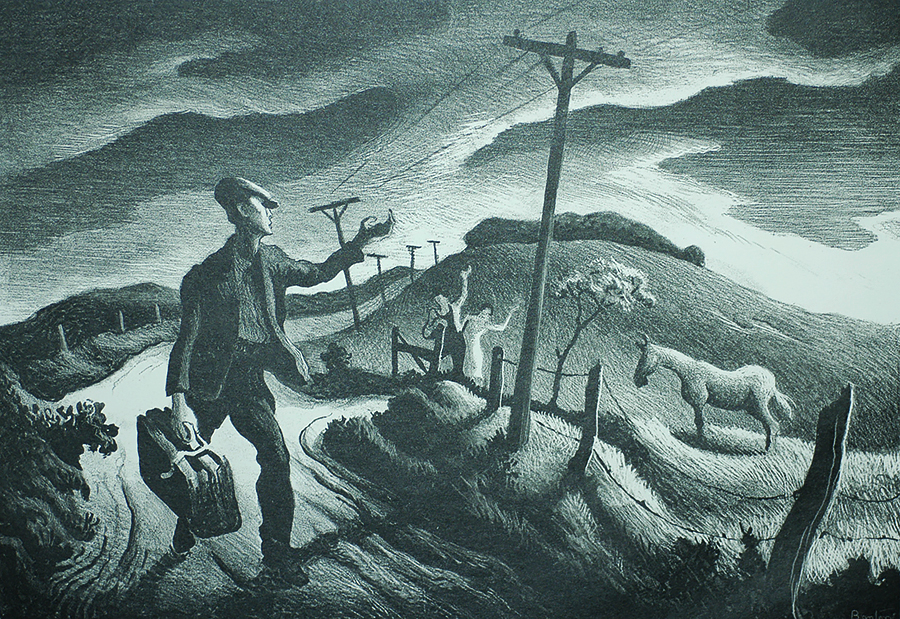 The Boy - THOMAS HART BENTON - lithograph