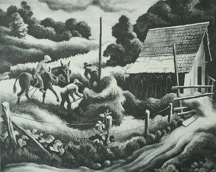 haystack - thomas hart benton | william p. carl - fine prints