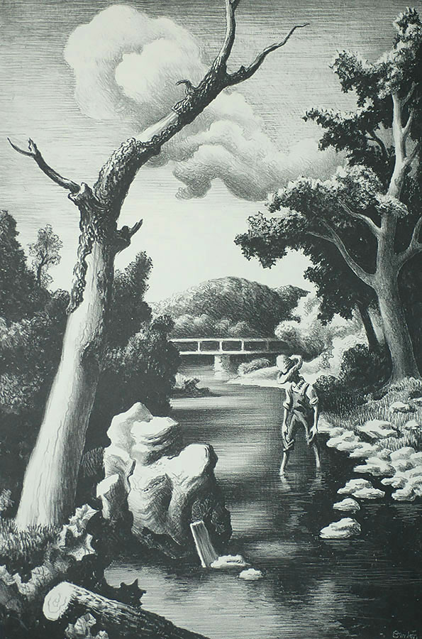 Shallow Creek - THOMAS HART BENTON - lithograph