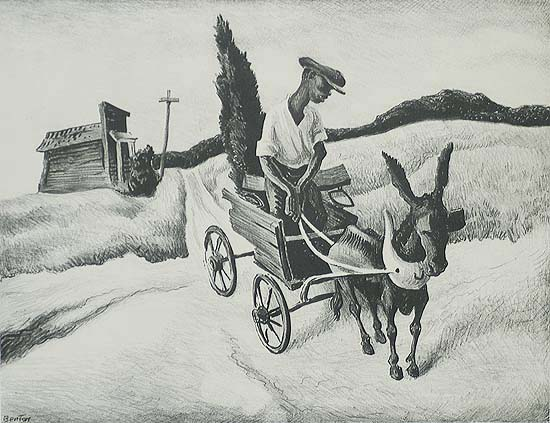 Lonesome Road - THOMAS HART BENTON - lithograph