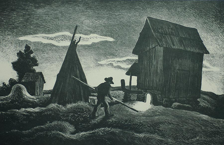 Night Firing - THOMAS HART BENTON - lithograph