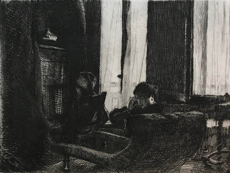 Intimacy (Intimité) - ALBERT BESNARD - etching