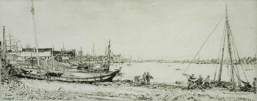 Fisher's Creek, King's Lynn - MUIRHEAD BONE - drypoint