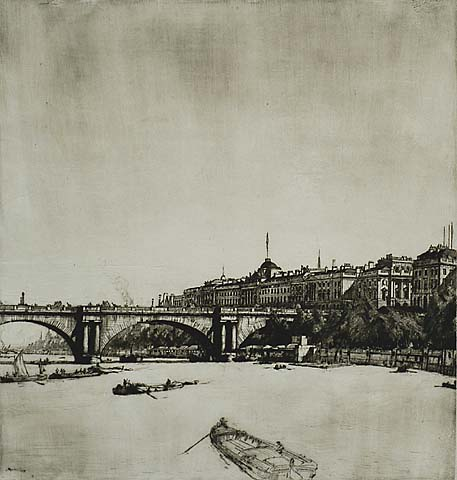 Somerset House, London - MUIRHEAD BONE - drypoint