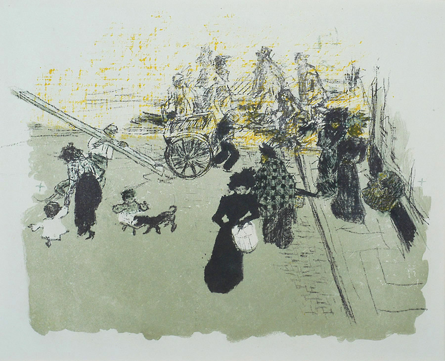 Coin de Rue (Street Corner) - PIERRE BONNARD - lithograph printed in four colors