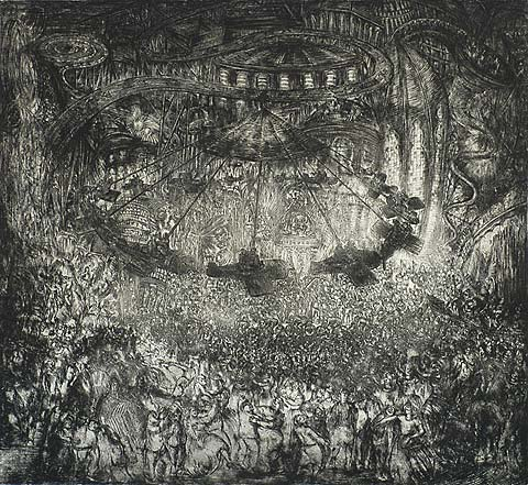 Kermis (The Fair) - JACQUES BOONEN - etching