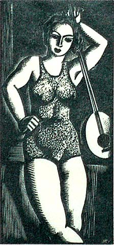 Figurante - JOHN BUCKLAND-WRIGHT - wood engraving