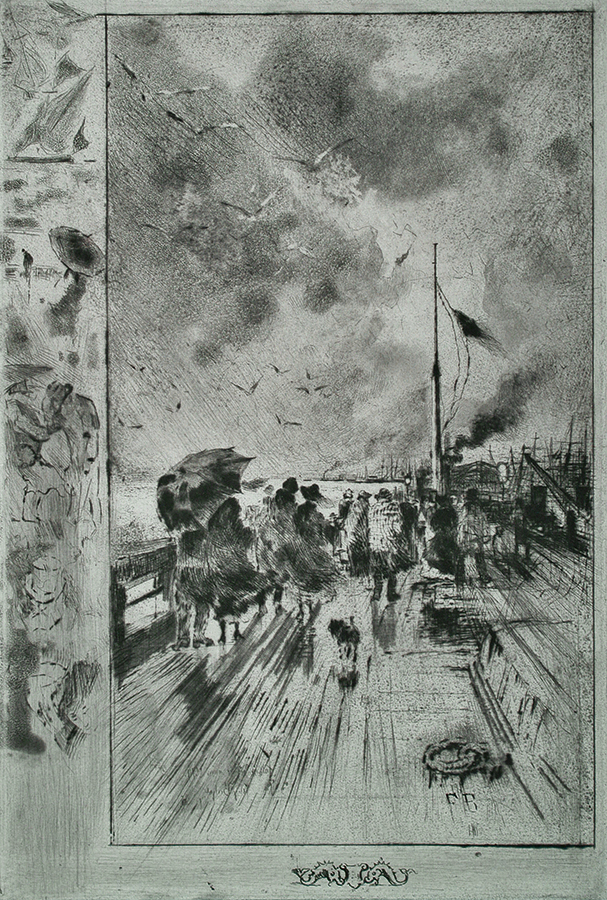 Un Debarquement en Angleterre (Disembarking in England) - FELIX BUHOT - etching, drypoint and aquatint