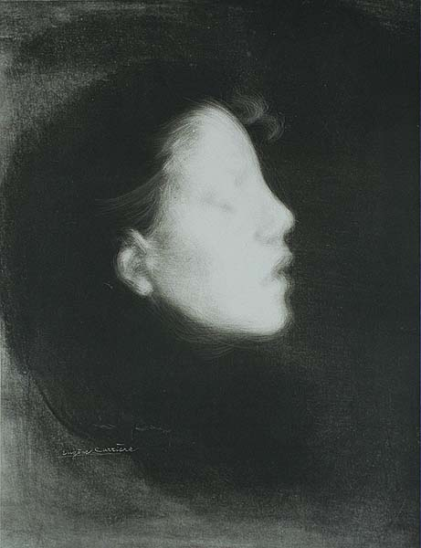 Head of a Woman (Tete de Femme, also called Nelly Carriere) - EUGENE CARRIERE - lithograph