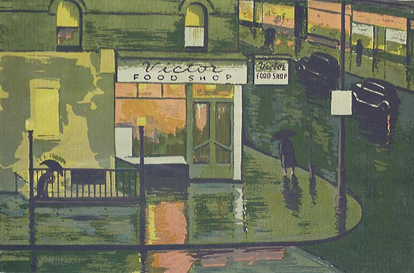 Rainy Day, New York - MAX ARTHUR COHN - screenprint
