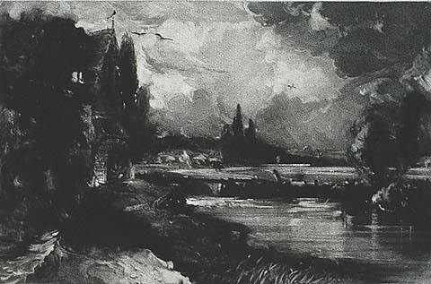 A Mill - (AFTER) JOHN CONSTABLE - mezzotint