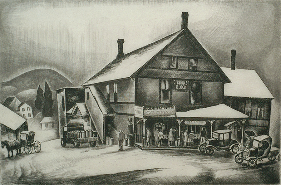 Country Store - HOWARD COOK - etching
