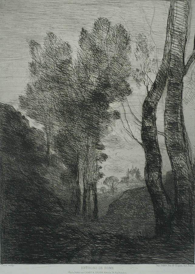 Environs de Rome - JEAN-BAPTISTE-CAMILLE COROT - etching