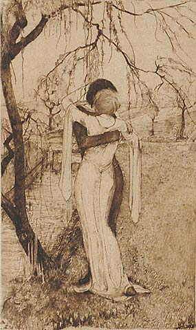 Couple Embracing - RIE CRAMER - etching