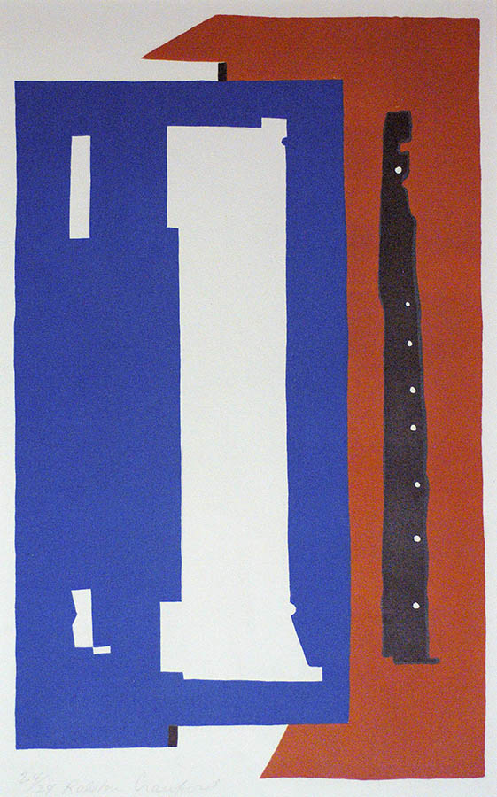 Third Avenue Elevated #2 - RALSTON  CRAWFORD - lithograph printed in colors