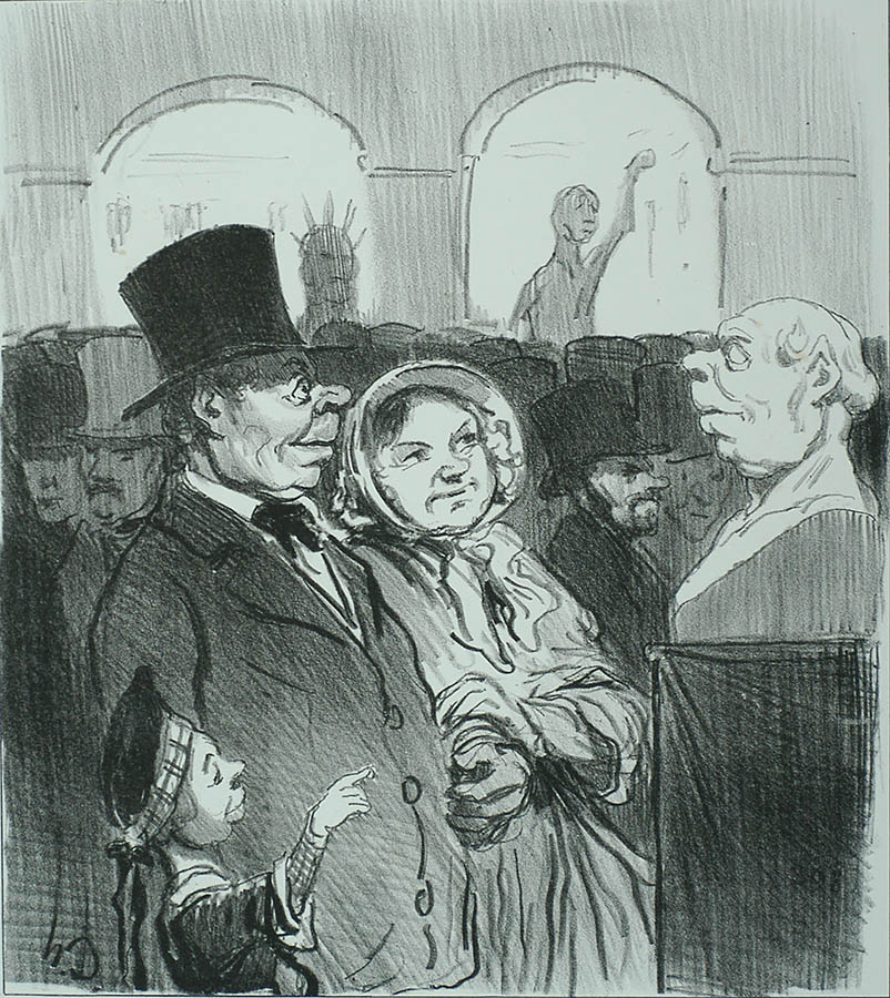Tiens, papa, te v'la! (Look Papa, it's you!) - HONORE DAUMIER - lithograph