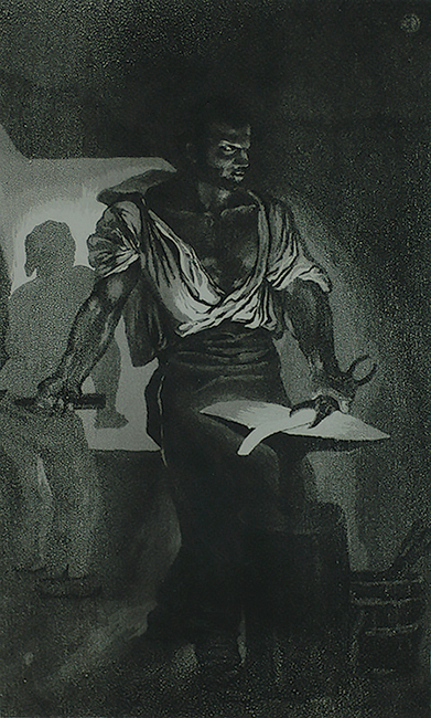 The Blacksmith (Un Forgeron) - EUGENE DELACROIX - etching and aquatint