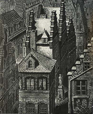 Architecture and Nostalgia, #6 - VICTOR DELHEZ - wood engraving