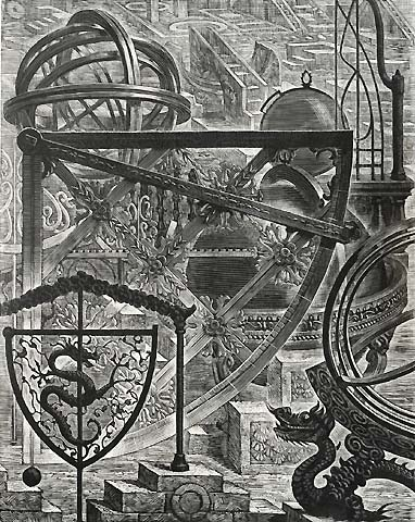 Architecture and Nostalgia, #8 - VICTOR DELHEZ - wood engraving