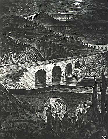 Architecture and Nostalgia, #9 - VICTOR DELHEZ - wood engraving