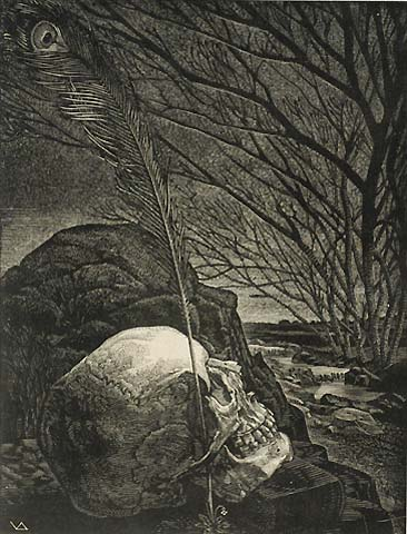 Bard - VICTOR DELHEZ - wood engraving