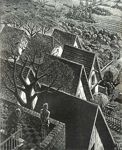 The Rich Fool - VICTOR DELHEZ - wood engraving