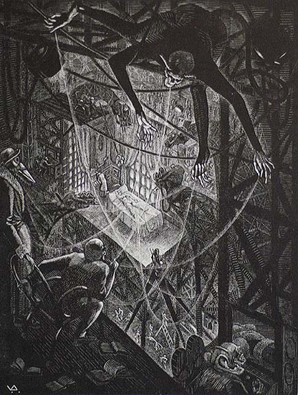 The Seventh Veil (De Zevende Sluier) - VICTOR DELHEZ - wood engraving