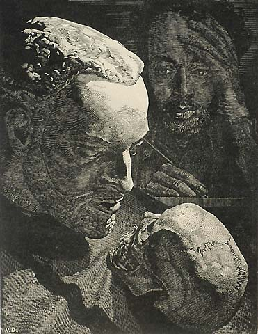 Untitled - VICTOR DELHEZ - wood engraving