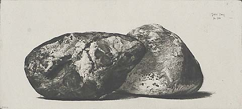 Great Bear (Two Stones from a Stream) - JAKOB DEMUS - diamond drypoint