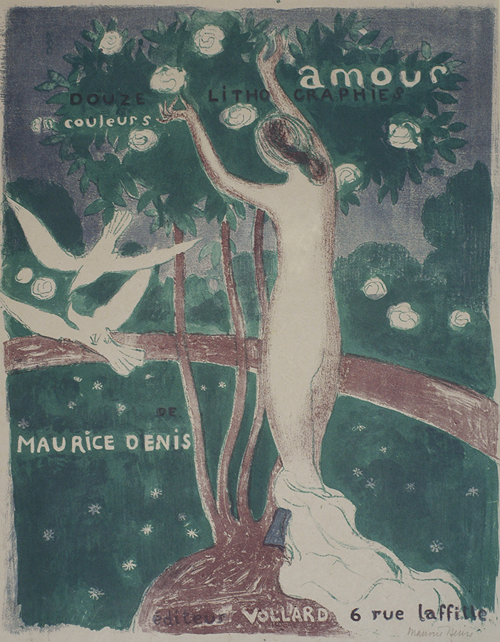 Cover for the Amour Suite (Coverture pour la suite Amour) - MAURICE DENIS - lithograph printed in colors