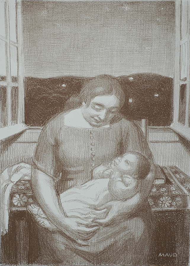 Maternité a la Fenêtre Ouverte (Motherhood at the Open Window) - MAURICE DENIS - lithograph