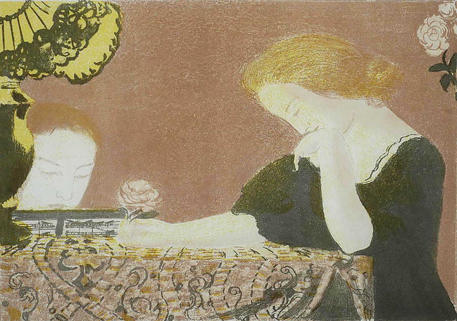 Nos Ames, En des Gestes Lents (Our Souls, in Slow Movements) - MAURICE DENIS - lithograph printed in colors