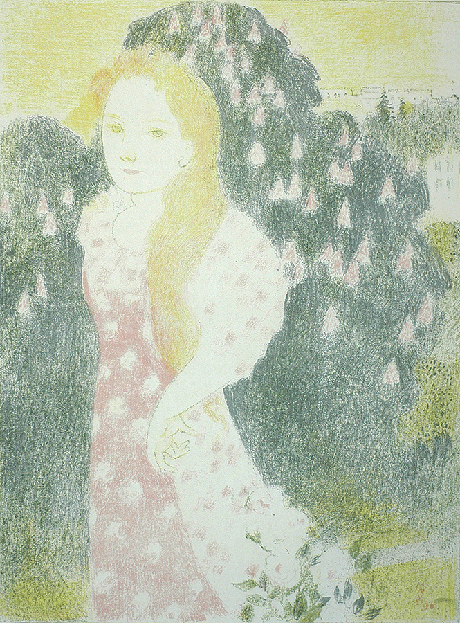 Les Crépuscules Ont une Doucer d'Ancienne Peinture (A Mood of Ancient Paintings Emanates from Dusk) - MAURICE DENIS - lithograph printed in colors