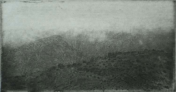 View in the Ardèche (Vergezicht in de Ardèche) - CHARLES DONKER - etching with aquatint