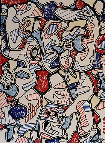 Samedi Tantot - JEAN DUBUFFET - lithograph printed in colors