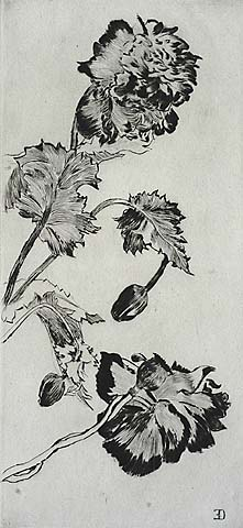 Flowers - ERNEST-ANGE DUEZ - drypoint